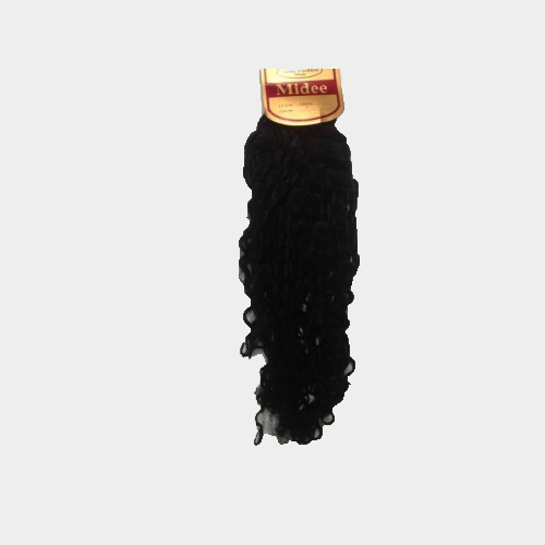 """100% Human Hair Remy22"""" curly, Color 1"""