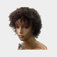 Human hair wig short Afro Curly Color 2